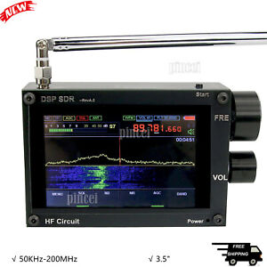 "Thicker 3.5"" 50KHz-200MHz Malachite DSP SDR Receiver Malahit Shortwave Receiver"