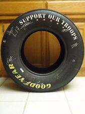 Dale Jr.Nascar Race Used Support Our Troops Tire~Signed by 5 others,Truex,Kahne
