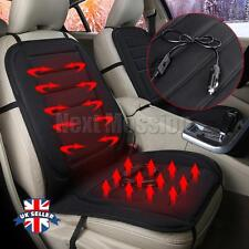 2x Black 12V Car Heated Heating Pad Hot Front Seat Cushion Cover Winter Warmer