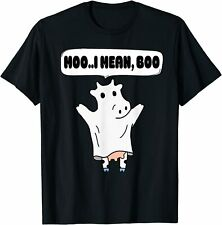 New Ghost Cow Moo I Mean Boo Pumpkin Moon Halloween Cute Cow T-Shirt Trend 2021