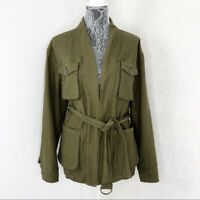 Free People In Our Nature Cargo Jacket Army Green Size XS OB764253