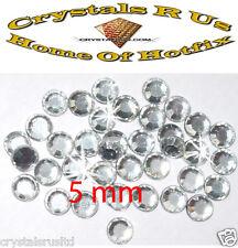 144 5mm claro termoadhesivos Hot-Fix Pedrería Diamante Beads