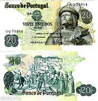 PORTUGAL Billet 20 ESCUDOS 1971 GARCIA DE ORTA BON ETAT
