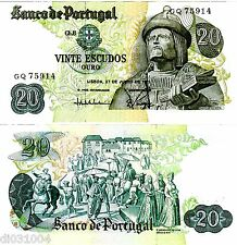 PORTUGAL Billet 20 ESCUDOS 1971 GARCIA DE ORTA QUASI NEUF // AU