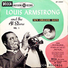 LOUIS ARMSTRONG And The All Stars Vol 1 FR Press Decca AM 233007 25 Cm/10 Inches