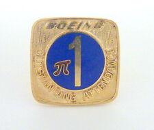 "Pin ""Pi""3.1 g Free Shipping I-6254 12K Yellow Gf Boeing Outstanding Attendance"
