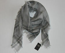 NWT! ABERCROMBIE by Hollister Womens Vintage Wool Open Knit Scarf Wrap Gray $58