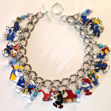 Smurf Bracelet Charms Papa Smurfette 16 Different Smurfs Adult Size