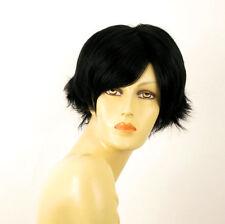perruque femme 100% cheveux naturel courte noir ref GABRIELLE 1b