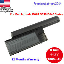 9 Cell Laptop Battery for Dell Latitude D620 D630 D631 D640 PC764 TC030 M2300 US