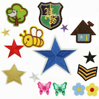 DIY Fabric Sticker Embroidery Badge Iron On/Sew On Patch Clothes  Applique Decor