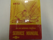 1972 Chevrolet Chevy 10 20 30 Series Service Repair Shop Manual Second Printing