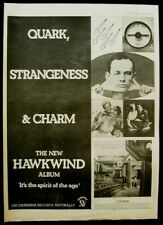 HAWKWIND 1977 POSTER ADVERT QUARK STRANGENESS AND CHARM