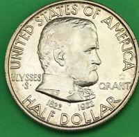 1922 Grant 'STAR' Commemorative Half Dollar, Silver 50c Commem. XF-AU