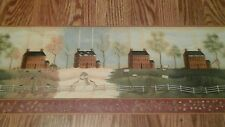 IMPERIAL Wallpaper Border Colonial Houses Seasons 5 yards pre-pasted 31192510