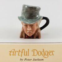Franklin Mint Vintage Miniature Artful Dodger Figurine Signed 1983 Toby Jug