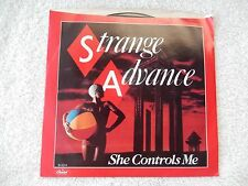 """Strange Advance """"She Controls Me/Lost In Your Eyes"""" Picture Sleeve 45 RPM Record"""