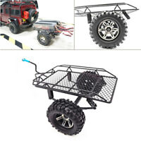 RC Car Rock Crawler Metal Small Trailer With Tire For 1/10 Axial SCX10 D90 CC01