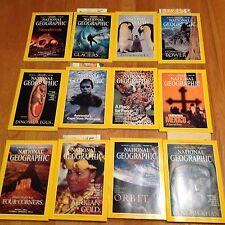 1996 National Geographic Magazine Complete Year 12 Issues