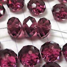 6x8 mm, rouge Transparent , naturel facetté cristal , perles lâches , 68 pcs