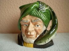 """Oldcourt Ware Pottery Character Jug : The Fisherman : 5"""" : England"""
