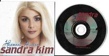 CD CARTONNE CARDSLEEVE 2 TITRES SANDRA KIM (EUROVISION 86) HELEMAAL ALLEEN 1998