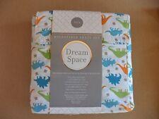 Dream Space JURASSIC DINO Twin Sheet Set ~Blue, Green, Orange Dinosaurs Dinosor