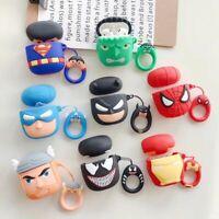 Superman Batman Earphone Cover for Apple Airpods Charging Case Holder Bag Skin