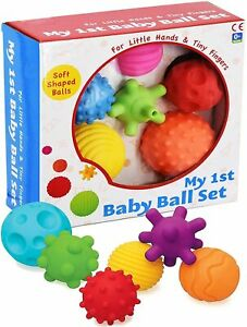 A to Z My First Baby Multi Textured Sensory Soft Ball Set of 6 Balls