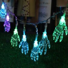 10 Led Skull Ghost Hands Halloween LED Colorful Lighting Lamp String Strip Light