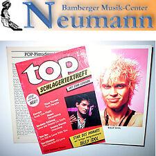 Top Schlagertextheft 1/87 Recitationsheft Star Lexicon mit Billy Idol Postkarte