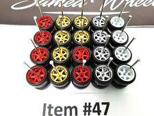 10 set COLOR MIX 6 spoke Samed Wheels premium rubber wheels for HW 1:64 cars