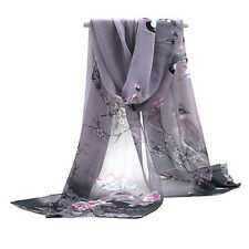 Vintage Women's Fashion Long Soft Paisley Chiffon Silk Scarf Wrap Shawl Scarves