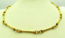 """Authentic 22K Yellow Gold Best Gift Item Round Bar Link Chain Necklace 20"""" Long"""