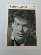 Zbigniew Cybulski - Fiche cinéma - Portraits de stars 13 cm x 18 cm