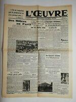 N718 La Une Du Journal L'œuvre 4 février 1943 des milices au parti