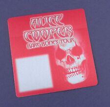 Alice Cooper - Unused Tour Pass - Bare Bones Tour