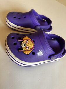 Crocs Classic Purple Baby Slip On Clogs Baby Girls Size C6
