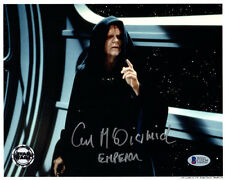 IAN MCDIARMID SIGNED AUTOGRAPHED 8x10 PHOTO + EMPEROR STAR WARS OPX BECKETT BAS