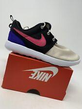 GIRLS: Nike Roshe One Shoes, Desert Sand/Watermelon - Size 1Y 749427-045