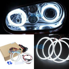 4Pcs Bright White led SMD Angel Eyes Halo Rings lights For VW Golf Mk4 1997-2003