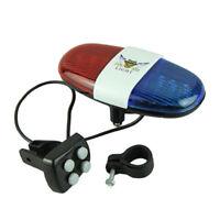 1X(bici bicicletta ciclismo 4 suoni 6 LED LED elettronico avvertimento luci HK