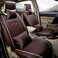 PU Leather Car Seat Covers Universal Full Set Front+Rear Cushion Mat US Stock