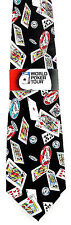 World Poker Tour Mens Necktie Gambling Neck Tie Cards Chip Casino Game Gift New
