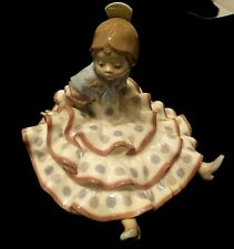 "Lladro ""A Time To Rest"" #5391 - Spanish Flamingo Dancer - Polka Dot Dress - Mint"