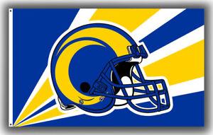 Los Angeles RAMS Football Team Memorable Flag 90x150cm 3x5ft  Fan Best Banner