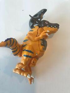 Digimon Digivolving Greymon To Metalgreymon Action Figure Bandai 1999