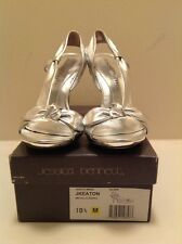 Jessica Bennett New Womens Silver Leather Sandal Size 10 1/2 M