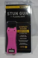 SABRE Level III 1.60µC Mini Stun Gun with Holster Pink LED Flashlight S-1005 BJ