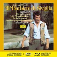 ROSSINI: IL BARBIERE DI SIVIGLIA - ABBADO/LSO/PREY   2 CD+DVD+BLU RAY AUDIO NEW!